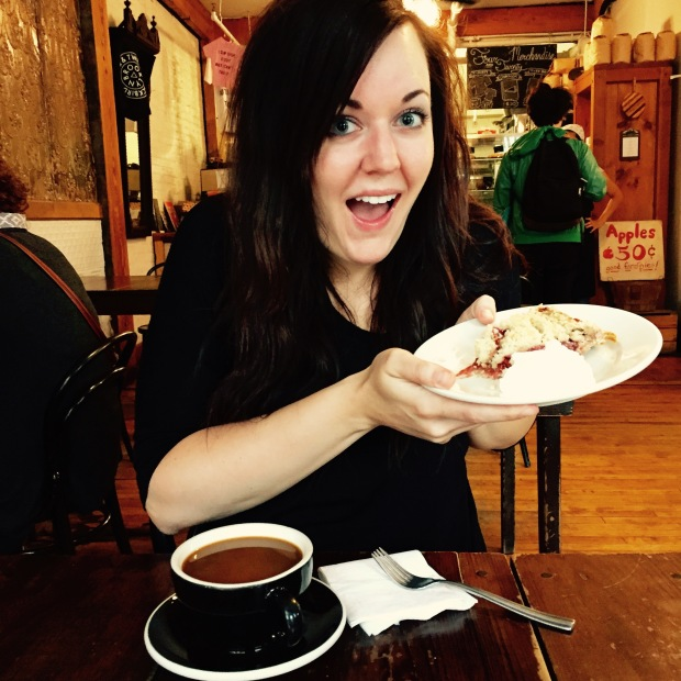 Me, really excited about pie in Brooklyn